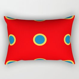 Dotted in Red Rectangular Pillow