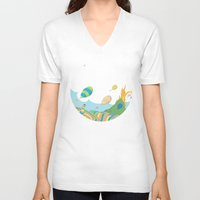 dr seuss V-neck T-shirts featuring oh the places you'll go .. dr seuss by studiomarshallarts