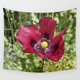 Pretty Purple Poppy Flower Wall Tapestry