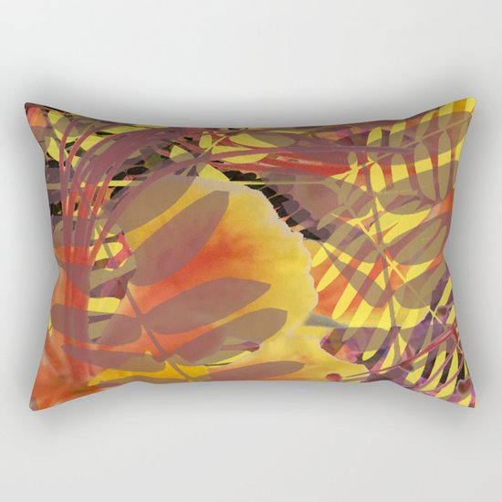 Autumn Tropical Vibe Rectangular Pillow