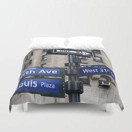 New York City Street Names Duvet Cover