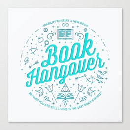 Book Hangover (Cyan) Canvas Print