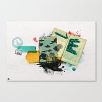 moscow Canvas Prints featuring Moscow by Hande Unver