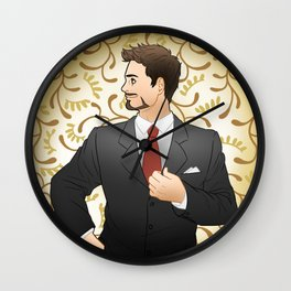 Suited Tony Wall Clock
