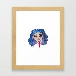 Blue Hair Magic Framed Art Print