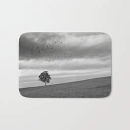 Tree, Hill, Birds... Bath Mat
