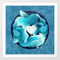 underwater guardians - fishes Art Print
