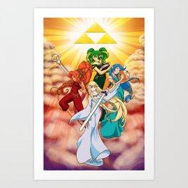 Four Goddess of Hyrule Art Print