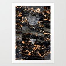 Molten Stone Art Print