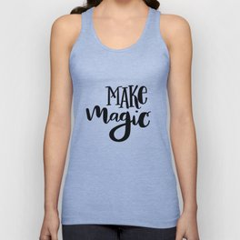 Make Magic: white Unisex Tank Top