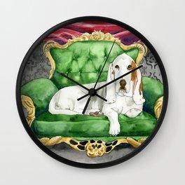 Royal Basset Hound Wall Clock