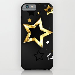 Gray Background with Black Stars iPhone Case