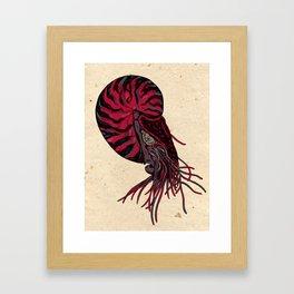 Space Nautilus Framed Art Print