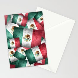 Grunge-Style Mexican Flag Stationery Cards