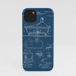 Rocking Oscillating Bathtub Patent Engineering Blueprint iPhone Case