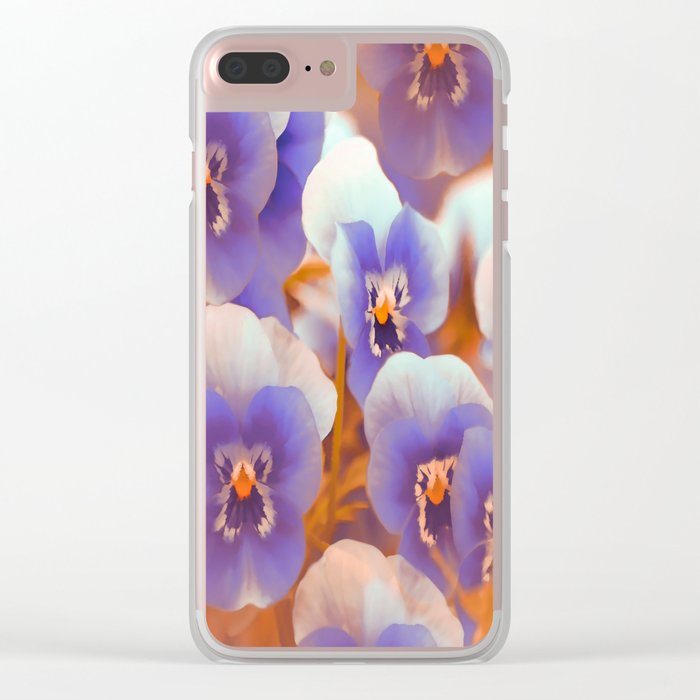 Violets in late summer Clear iPhone Case
