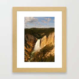 Majestic Yellowstone Upper Falls Framed Art Print