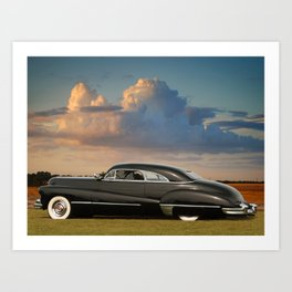1947 Caddy Hart Top Coupe Art Print