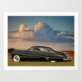 1947 Caddy Hart Top Coupe Art Print