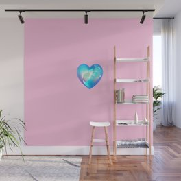 Crystal Heart Solo Version - Pink BG Wall Mural
