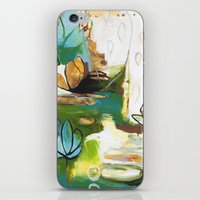 """flora bowley iPhone & iPod Skins featuring """"Rise Above"""" Original Painting by Flora Bowley by Flora Bowley"""