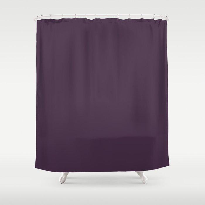 Solid Jewel Tone Purple Shower Curtain