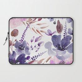 Watercolor giant flowers Laptop Sleeve