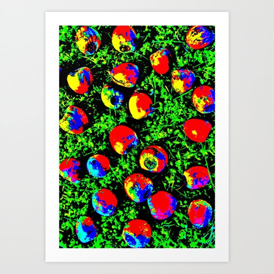 Colorful Nuts Art Print
