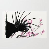 samurai Area & Throw Rugs featuring samurai by tshirtsz