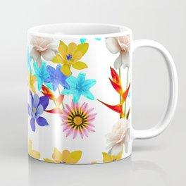 Multi Color floral texture Coffee Mug