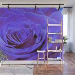 Purple Blue Rose Wall Mural