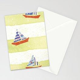 Tres navíos en el mar! Stationery Cards