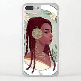 art nouveau portrait Clear iPhone Case