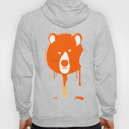 Orange Ice Cream Bear Hoody