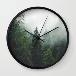 372. Cloudy Capilano forest, Vancouver, Canada Wall Clock
