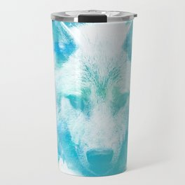 Blue Wolf Travel Mug