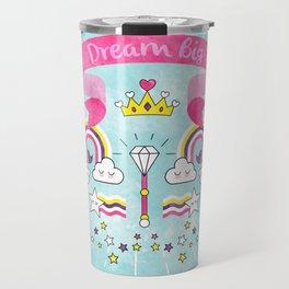 Dream Big Unicorn Carousel Travel Mug