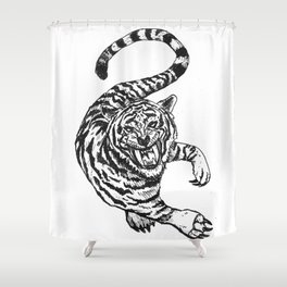 TIGER! Shower Curtain