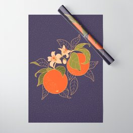 Orange Branch Wrapping Paper