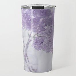 First Love - Pastel Purple Lilac Floral Decor Travel Mug