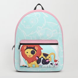 Lion Cow Backpack