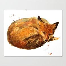 Fox painting, fox print Canvas Print