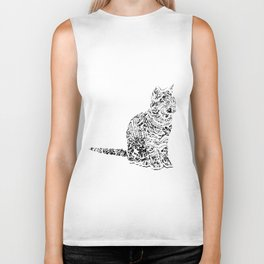 Abstract cats Biker Tank