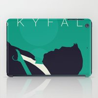 skyfall iPad Cases featuring Minimalist Bond: Skyfall by Tyler Bramer