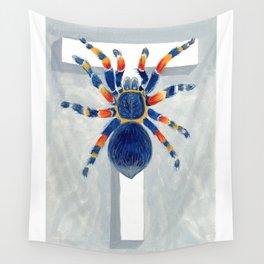 T is for Tarantula  Letter Alphabet Decor Design Art Pattern Wall Tapestry