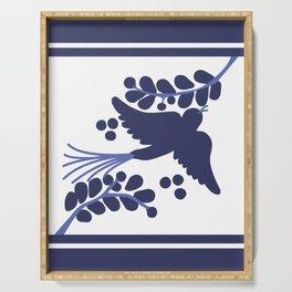 Talavera Blue Bird Serving Tray