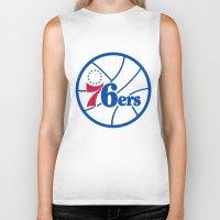 nba Biker Tanks featuring NBA - 76ers by Katieb1013