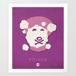POKÉMON Poison Art Print