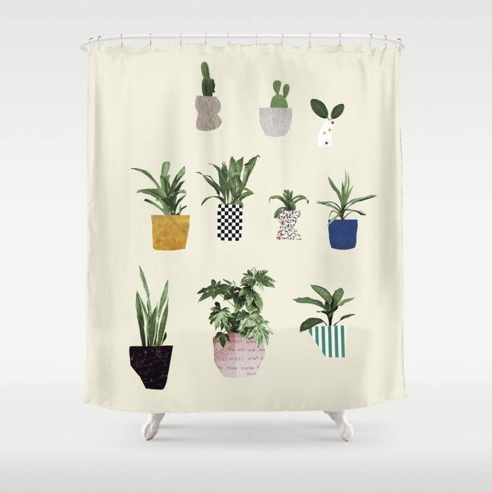 HOUSE PLANTS Shower Curtain By Bethhoeckelcollage