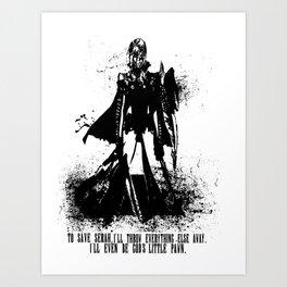Lightning Ink Blot Art Print